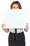 Business woman covering her face poster Stock Images