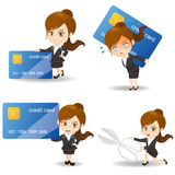 Business woman with credit card Royalty Free Stock Image