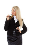 Business woman with credit card. Stock Photos
