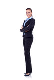 Business woman with crossed arms stock image