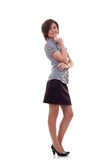 Business woman with crossed arms Royalty Free Stock Photo