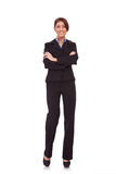 Business woman with crossed arms Royalty Free Stock Photos
