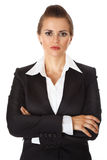 Business woman with crossed arms on chest Stock Image