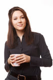 Business woman with cup coffe Stock Photography