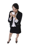 Business woman with cup of coffee Royalty Free Stock Image
