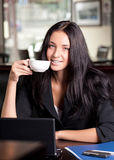 Business woman with cup of coffee Royalty Free Stock Photo