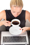 Business woman with cup of coffee. Stock Photos