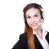 Business Woman customer service worker Royalty Free Stock Photos