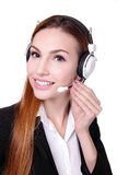 Business Woman customer service worker Stock Photo