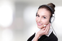 Business Woman customer service worker Royalty Free Stock Photography