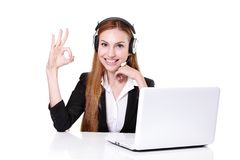 Business Woman customer service worker Royalty Free Stock Image