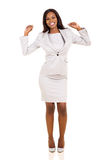Business woman dancing Royalty Free Stock Image