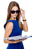 Business woman in dark glasses Stock Photo
