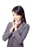 Business woman day dreaming Royalty Free Stock Photography