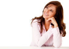 Business woman daydreaming Stock Images