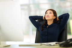 Business woman daydreaming Royalty Free Stock Photos