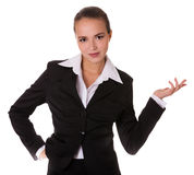 Business woman with depostration gesture Stock Images