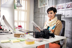 Business woman in designers studio at work Stock Images