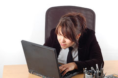 Business woman at desk #13 Royalty Free Stock Photo