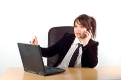 Business woman at desk #16 Stock Photography