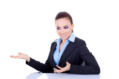 Business woman at desk Royalty Free Stock Photos
