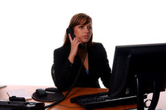 Business Woman At Desk Stock Photography