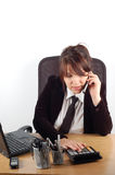 Business woman at desk #19 Stock Photos