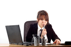 Business woman at desk #19 Stock Images