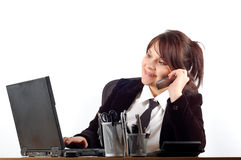 Business woman at desk #3 Royalty Free Stock Photography