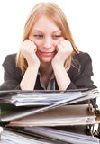 Business woman in despair Stock Photos