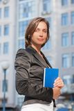 Business woman with diary Royalty Free Stock Photo
