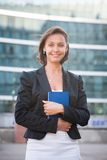 Business woman with diary Stock Photos