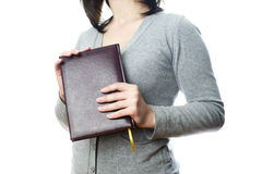 Business woman with diary royalty free stock photos