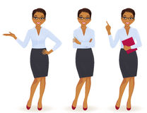 Business woman in different poses Royalty Free Stock Image