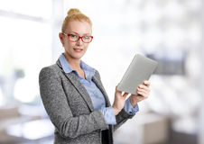 Business woman with digital tablet Stock Images