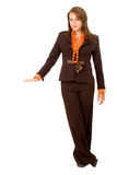 Business woman display Stock Photos