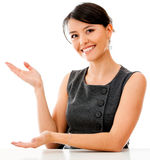 Business woman displaying something Stock Photos