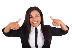 Business woman displaying something Stock Photography