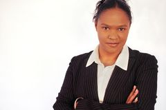 Business Woman - Diversity. Image of a serious, confident african american business woman, conceptual workplace diveristy (please note, this woman forms part of stock image