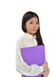 Business woman with document file Stock Image