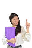 Business woman with document file Royalty Free Stock Image