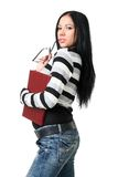 The business woman with documents Stock Photo