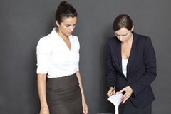 Business woman with documents Royalty Free Stock Image
