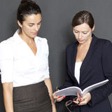 Business woman with documents Royalty Free Stock Photo