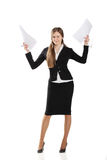 Business Woman With Documents Stock Photo