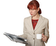 The business woman with documents Stock Photos