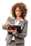 Business woman with documents files Stock Photos