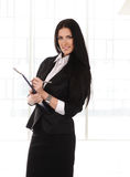 Business woman  with documents in hands, Stock Photo