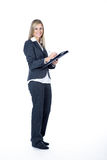 Business woman does notes Stock Photo