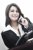 Business Woman Doing Business On The Phone Royalty Free Stock Image
